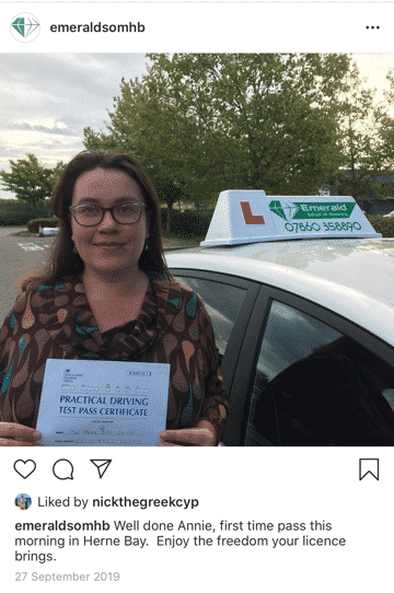 Annie Driving Lessons Herne Bay Emerald School of Motoring-1