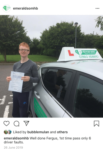 Fergus Driving Lesson Herne Bay Emerald School of Motoring