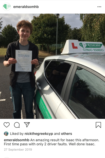 Issac Driving Lesson Herne Bay Emerald School of Motoring