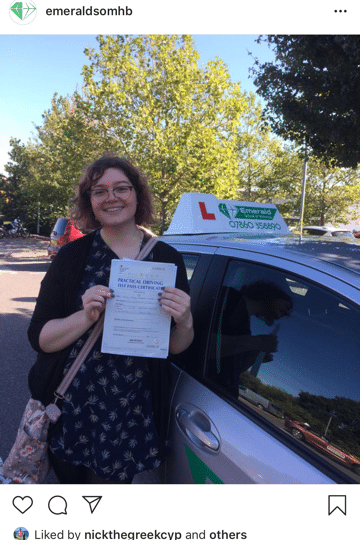 Sarah Driving Lesson Herne Bay Emerald School of Motoring